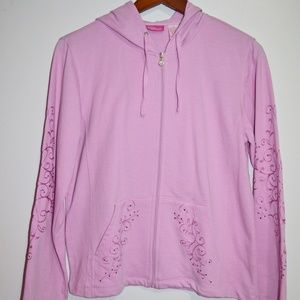 Pappagallo Hoodie Pink S/M Embroidered